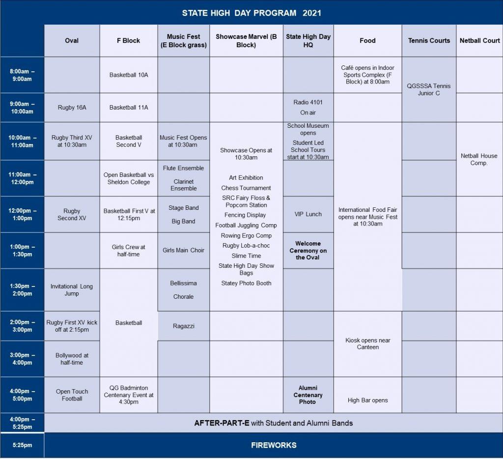 State High Day Program 2021